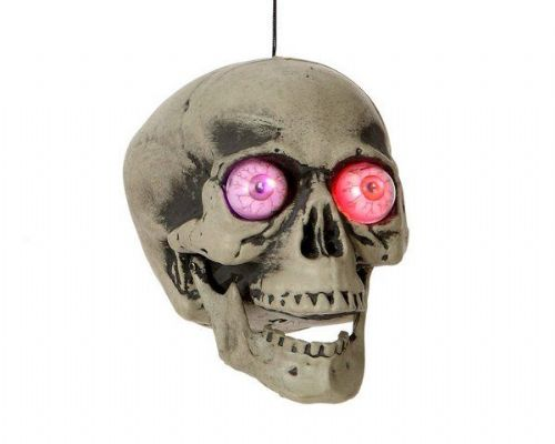 Prop Skull with Lights and Sounds Halloween Ceiling Hanger Party Decoration